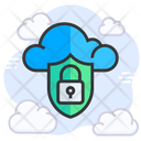 Cloud Security Cloud Computing Cloud Protection Icon