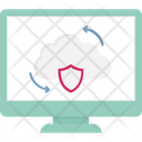Cloud Security Cloud Syncing Data Security Icon
