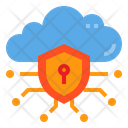 Data Security Shield Cloud Icon