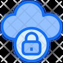 Cloud Security Secure Cloud Lock Icon