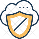 Cloud Security Protection Icon