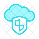 Cloud Shield Safety Icon
