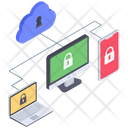 Cloud Security Cloud Security Network Cloud Security Devices Icon