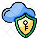 Cloud Security Key Icon