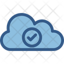 Cloud Selected Check Mark Cloud Computing Icon