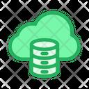 Cloud Database Online Data Icon