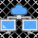 Cloud Server Cloud Connection Computer Connection Icon