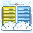 Cloud Computing Cloud Storage Cloud Database Icon