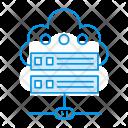 Cloud Server Database Icon