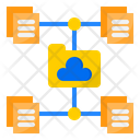 Cloud File Work From Home Icon