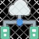 M Cloud Server Cloud Server Cloud Connection Icon