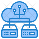 Cloud Server Share Cloud Icon