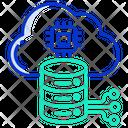 Cloud Server Cloud Database Cloud Network Icon