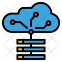 Cloud Server Cloud Storage Big Data Storage Icon