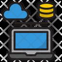Cloud Server Cloud Database Server Icon