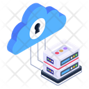 Cloud Database Cloud Server Cloud Dataserver Icon
