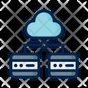 Cloud Server Big Data Cloud Database Icon