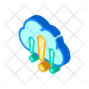 Cloud Exclamation Marks Icon