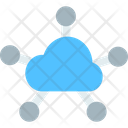 M Cloud Server Cloud Server Network Cloud Database Network Icon