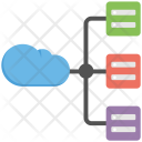 Cloud Server Structure Icon