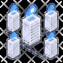 Cloud Technology Cloud Servers Cloud Datacenters Icon