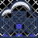 Cloud Servers Hardware Servers Data Servers Icon