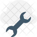 Cloud Service Wrench Icon