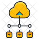 Cloud Service Database Icon