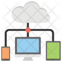 Integrate Cloud Computing Icon