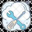 Cloud Tools Cloud Repairing Cloud Maintenance Icon