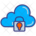 Cloud Data Lock Cloud Hosting Cloud Services Icon