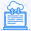 Cloud Services Data Transfer Cloud Downloading Icon