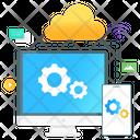 Cloud Management Cloud Network Cloud Connection Icon