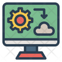 Cloud Setting Monitor Icon
