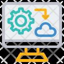 Cloud Monitor Screen Icon