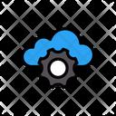Cloud Setting Database Icon