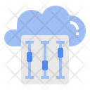 Cloud Setting Adjustment Icon