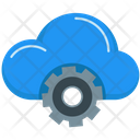 Upload Data Cloud Computing Icon