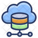 Cloud Shared Database Cloud Storage Cloud Computing Icon