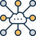 Cloud Sharing Network Icon