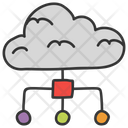 Cloud Database Cloud Computing Cloud Sharing Icon