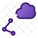 Cloud Sharing Cloud Computing Cloud Network Icon