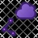 Cloud Sharing Cloud Computing Cloud Data Icon