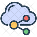 Seo Cloud Data Icon