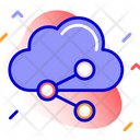 Cloud Media Network Share Icon