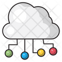 Cloud Network Sharing Icon