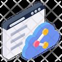 Cloud Sharing Online Sharing Web Sharing Icon