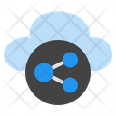 Cloud Sharing Cloud Storage Cloud Technology Icon