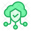 Protected Cloud Secure Cloud Safe Cloud Icon