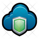 Cloud Shield Protect Icon